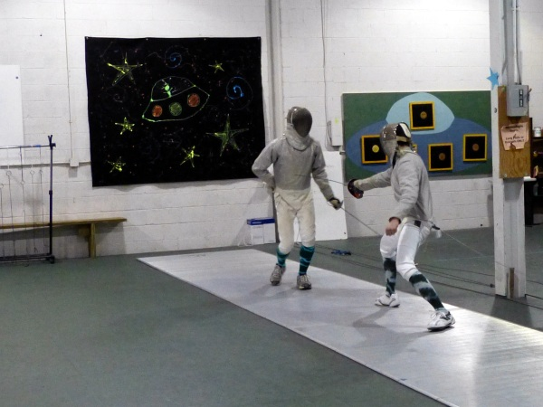 fencing at Salle d'Etroit